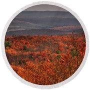 The Hills To High Point Round Beach Towel by Raymond Salani III