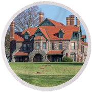 The Historic Eustis Estate In Milton Massachusetts Round Beach Towel by Brian MacLean