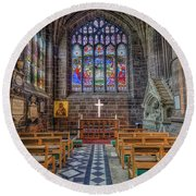 The Holy Cross Round Beach Towel by Ian Mitchell