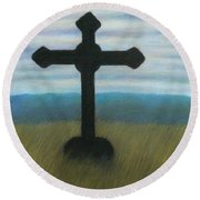 The Holy Cross Round Beach Towel