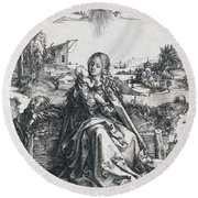 The Holy Family With The Mayfly Round Beach Towel
