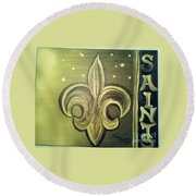 The Holy Saints Round Beach Towel