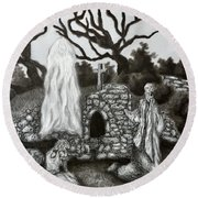 The Holy Well Round Beach Towel