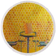 The Honey Of Lives Round Beach Towel