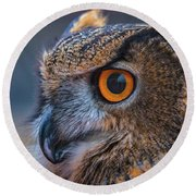 The Hooter Round Beach Towel