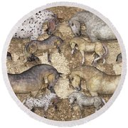 The Horse Collection Round Beach Towel