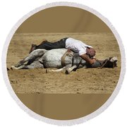 The Horse Whisperer Round Beach Towel by Venetia Featherstone-Witty