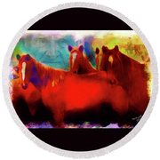 The Horse Whisperer Round Beach Towel