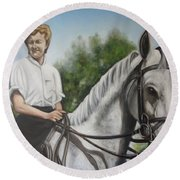 The Horsewoman  Round Beach Towel