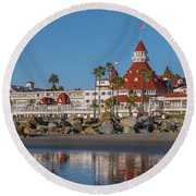 The Hotel Del Coronado Round Beach Towel