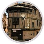 The House Of The Old Albi Round Beach Towel by RicardMN Photography