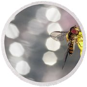 The Hoverfly Round Beach Towel