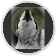 The Howling Round Beach Towel
