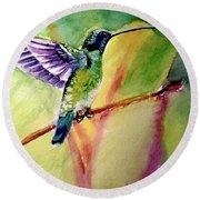 The Hummingbird Round Beach Towel