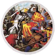 The Hundred Years War  The Struggle For A Crown Round Beach Towel