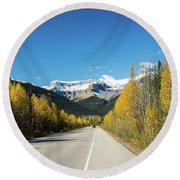 The Icefields Parkway Round Beach Towel