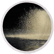 The Illusion Of Dark And Light With Water Round Beach Towel