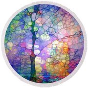 The Imagination Of Trees Round Beach Towel