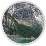 The Immensity Of Moraine Lake Round Beach Towel