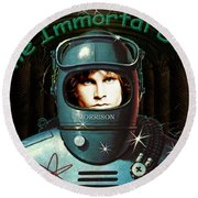 The Immortal Door Round Beach Towel