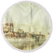 The Imprint Round Beach Towel