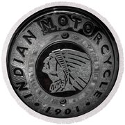 The Indian Motorcycle Logo Round Beach Towel