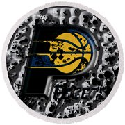 The Indiana Pacers Round Beach Towel by Brian Reaves