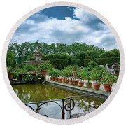 Inside The Boboli Gardens Of Firenze Round Beach Towel