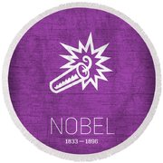 The Inventors Series 006 Nobel Round Beach Towel