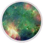 Round Beach Towel featuring the photograph The Invisible Dragon by NASA JPL-Caltech