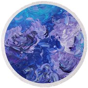 The Invisible Woman Round Beach Towel