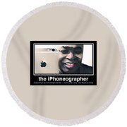 the iPhoneographer Round Beach Towel