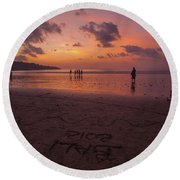 The Island Of God #15 Round Beach Towel