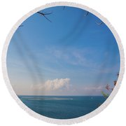The Island Of God #5 Round Beach Towel