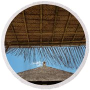 The Island Of God #6 Round Beach Towel