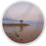 The Island Of God #9 Round Beach Towel