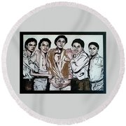 The Jacksons Five  Round Beach Towel