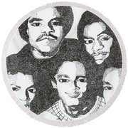 The Jacksons Tribute Round Beach Towel