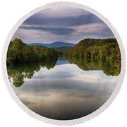 The James River Reflection Round Beach Towel