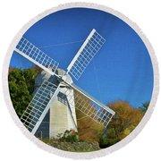 The Jamestown Windmill Round Beach Towel