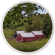 Round Beach Towel featuring the photograph The Jenne Farm II by Rod Best