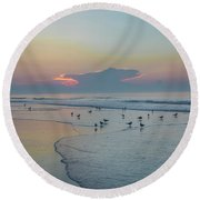 Round Beach Towel featuring the photograph The Jersey Shore - Wildwood by Bill Cannon
