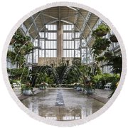 The Jewel Box Fountain Round Beach Towel