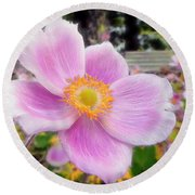 The Jewel Of The Garden Round Beach Towel