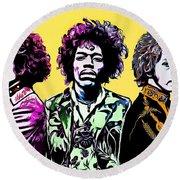 The Jimi Hendrix Experience Round Beach Towel