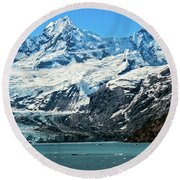 The John Hopkins Glacier Round Beach Towel