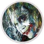 The Joker - Heath Ledger Round Beach Towel