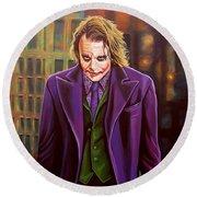 The Joker In Batman  Round Beach Towel