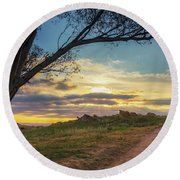 The Journey Home Round Beach Towel