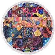 The Joy Of Design First 40 Variation 1 Round Beach Towel